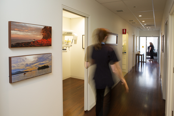 The practice corridor leading to the dental suites in Richmond Fine Dentistry, Melbourne