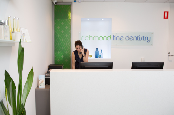 The reception at Richmond Fine Dentistry Melbourne