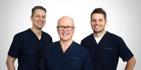 Melbourne dentists Robert Harper, Matt Bourke and Ben Abbott from Richmond Fine Dentistry
